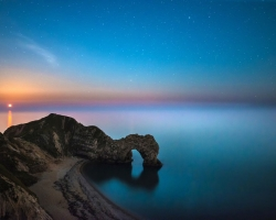 Durdle Door Moon Rise