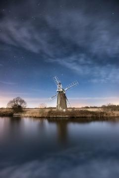 Turf Fen Windmill Nightscape