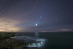 Venus,Mars & Jupiter Night Sky Dorset