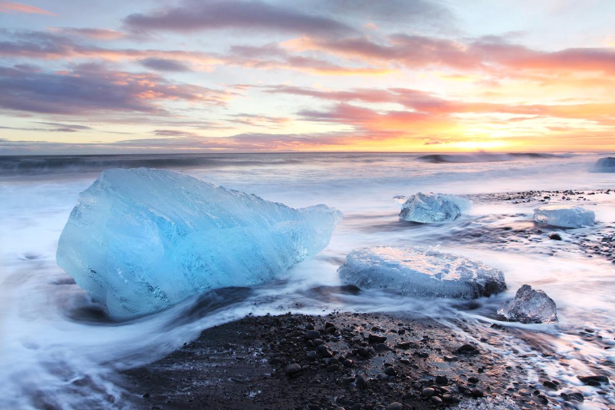 Jokusarlon Iceberg Beach Iceland