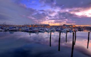 Weymouth Marina Sunrise HDR