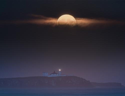 Super Moon UK Night Sky