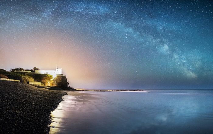 Sidmouth Milky Way Night Rainbow