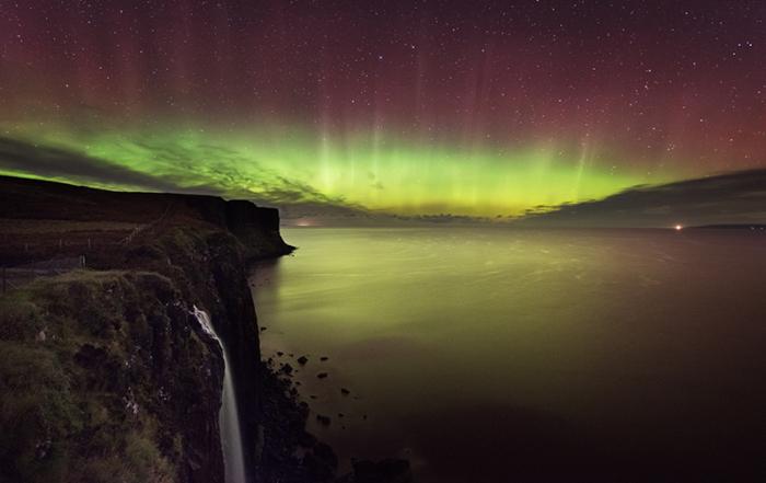 Mealt Falls Aurora